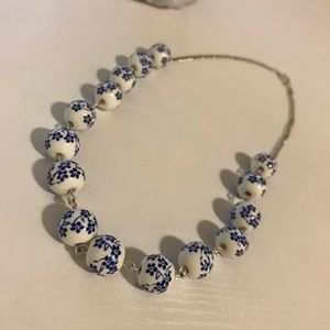 Jewelry - 🌸Japanese Blue Floral Bead Necklace